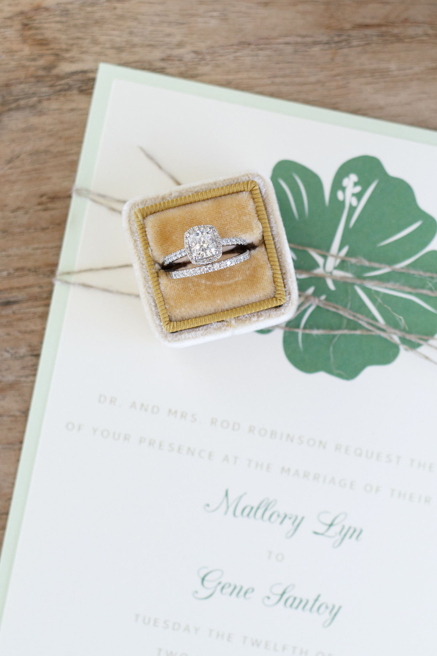 Wedding Ring on Invitation