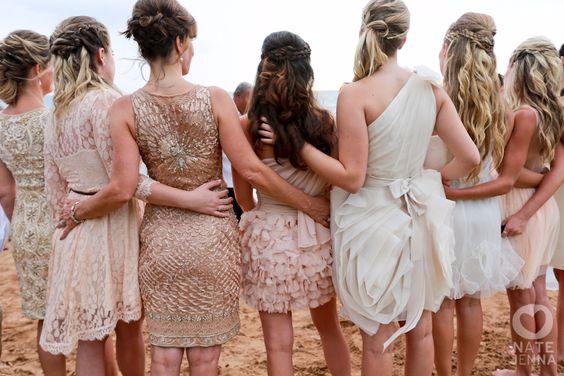 mismatched maids dresses